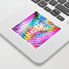 Crumpled Rainbow V Tie Dye Sticker