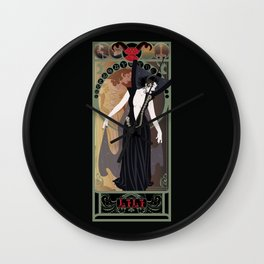 Dark Lili Nouveau - Legend Wall Clock
