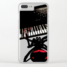 Spider Electro Techno House synthesizer II Clear iPhone Case