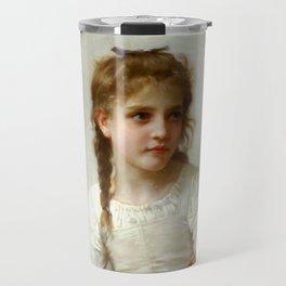 """William-Adolphe Bouguereau """"Sewing"""" Travel Mug"""