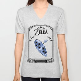 Zelda legend - Ocarina of time Unisex V-Neck