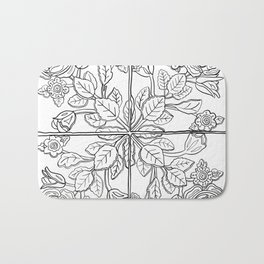 Portuguese Tiles - Line Art Bath Mat