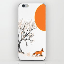 the little fox iPhone Skin