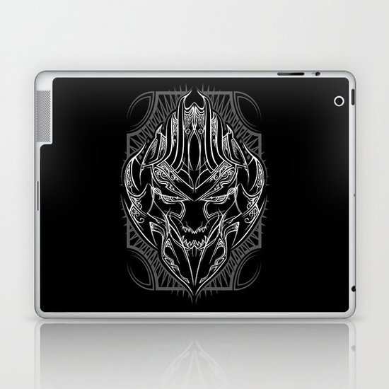 Pinstripe Megatron Laptop & iPad Skin