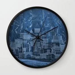 Submerged City Wall Clock