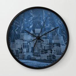 Submerged City Wall Clock