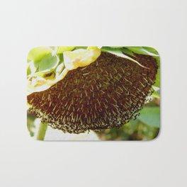 Heavy sunflower Bath Mat