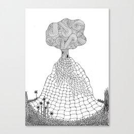 Tree on a termite mound Canvas Print