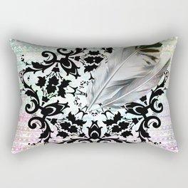 Victorian Boho Feathers Rectangular Pillow