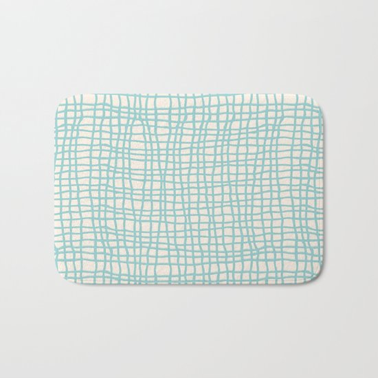 Blue Scribbles Pattern 06 Bath Mat