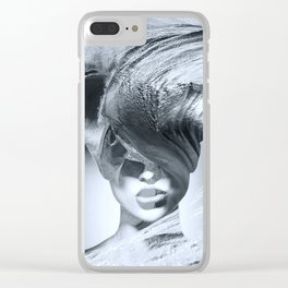 Wave girl Clear iPhone Case