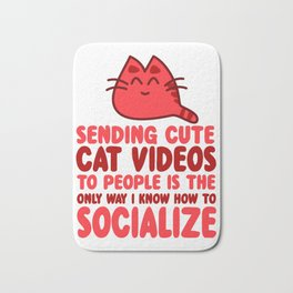 Cute Cat Videos Bath Mat
