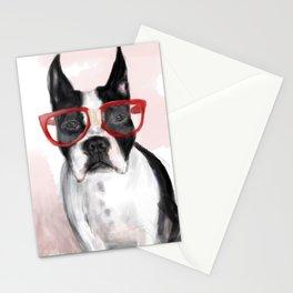 Nerdball the Boston Terrier Stationery Cards