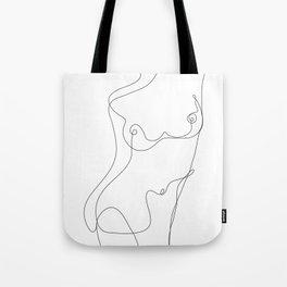 Minimal Line Art One Line Female Figure I Tote Bag