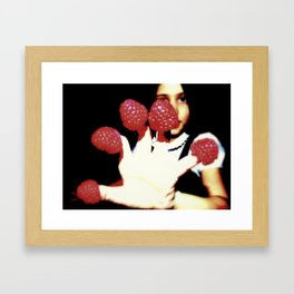 Raspberry fingers Framed Art Print