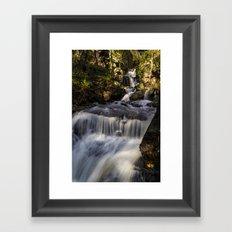 Cascades at Lumsdale Falls Framed Art Print