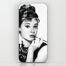 Audrey Hepburn Pencil drawing iPhone Skin