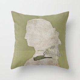 Anne Brontë Agnes Grey - Minimalist literary design Throw Pillow