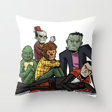 The Universal Monster Club Throw Pillow