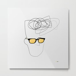 Unknown Man Portrait With Cool Haircut Metal Print