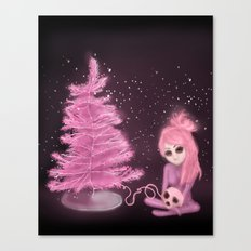 Intercosmic Christmas in Pink Canvas Print