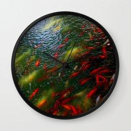 Koi Frenzy Wall Clock