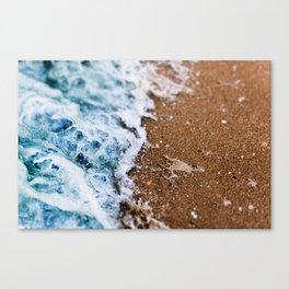Macro Wave Crashing Canvas Print