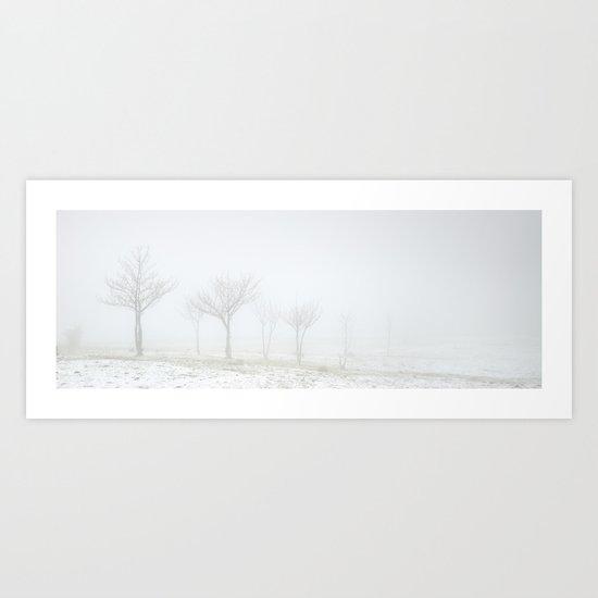 into the mist.... Art Print