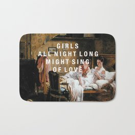 girls all night long Bath Mat