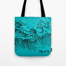 WAY OF THE OCEAN - Waves Print Tote Bag