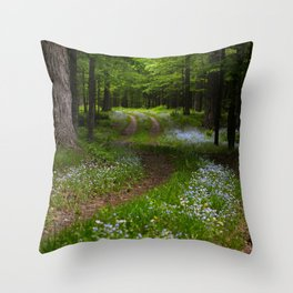 Forget-me-not Trail Throw Pillow