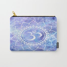 Om Mandala Lavender Periwinkle Blue Galaxy Space Carry-All Pouch