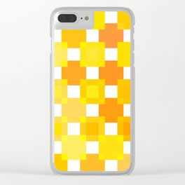 50 Squares of YELLOW - Living Hell Clear iPhone Case