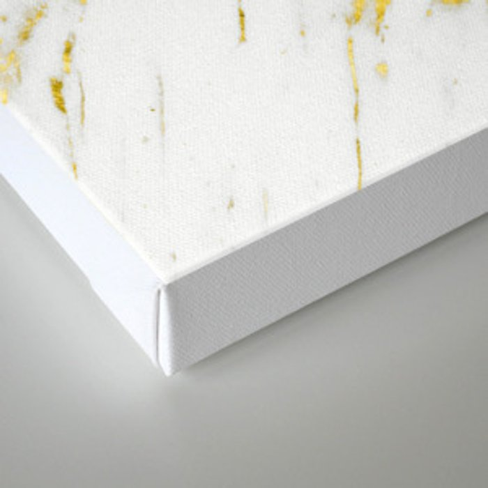 Gold Marble - Yellow Gold Marble Metallic Canvas Print