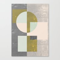 mid century Canvas Prints featuring Mid century print by FLATOWL
