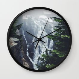 Water on the Mountain Wall Clock