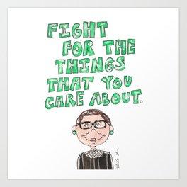 Little RBG Quote Art Print