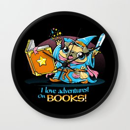 I Love Adventures! On Books. Wall Clock