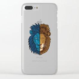 Lion Geometry | King of Jungle | Africa Sahara Clear iPhone Case