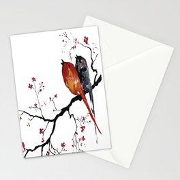 Birds Happy Singing Stationery Cards