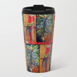 Parrots and Pineapples Travel Mug