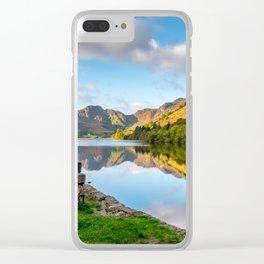 Crafnant Lake Obelisk Clear iPhone Case