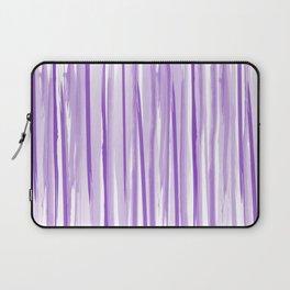 Purple watercolor striped pattern Laptop Sleeve