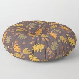 Oak Leaves dark Floor Pillow