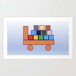 Kiddies Truck With Blocks Art Print