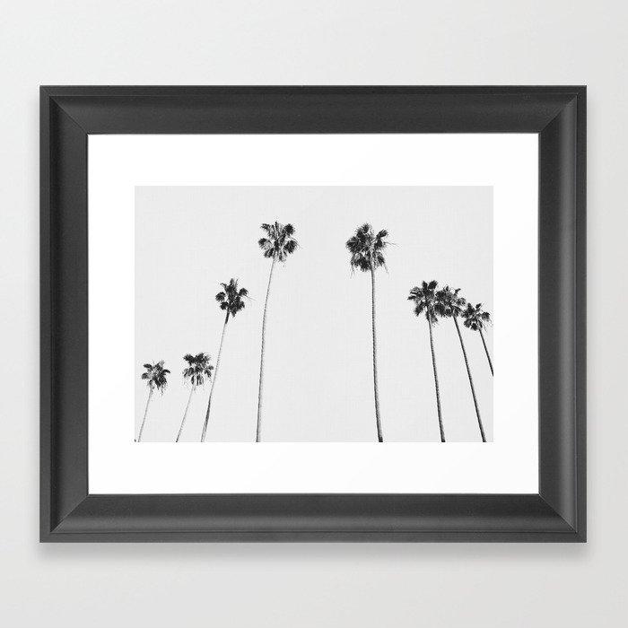 Black & White Palms Framed Art Print
