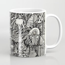 My City Driven by Fire Into the Sea Coffee Mug