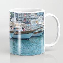 Yachting marina of Marmaris in Turkey resort town on the Aegean Sea Coffee Mug