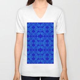 Indigo Batik Unisex V-Neck