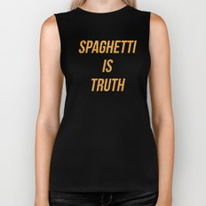 Spaghetti is truth Biker Tank